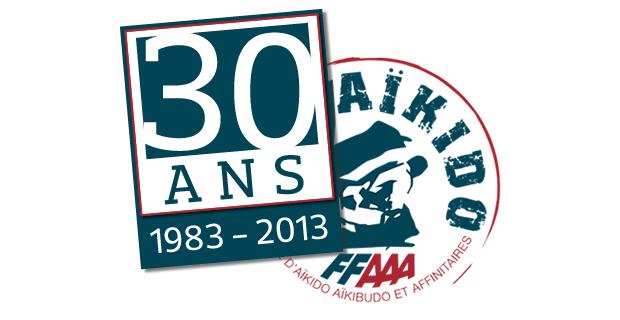 Logo pour les 30 ans de la FFAAA