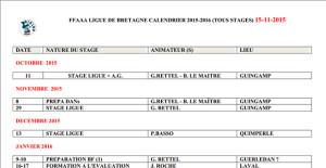 Calendrier aikido Bretagne FFAAA saison 2015-2016