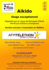 Stage exceptionnel Téléthon 24 juin 2018 @ Dojo Espace Sportif de la Madeleine | Guingamp | Bretagne | France