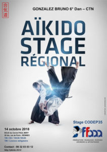 Stage Codep35 Aikido 14 octobre 2018 @ Dojo du Cercle Paul Bert | Rennes | Bretagne | France