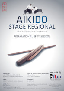 Stage de Formation au Brevet Fédéral Aïkido 19/20 janvier 2019 @ complexe sportif de guerledan | Mûr-de-Bretagne | Bretagne | France