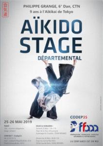 Stage Départemental Codep35 Aïkido 25/26 mai 2019 @ Dojo de la Tour d'Auvergne | Rennes | Bretagne | France