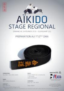 Stage Préparation 1-2 Dan Aïkido 24 février 2019 @ Espace sportif de la Madeleine | Guingamp | Bretagne | France