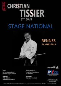 Stage National Aïkido Christian Tissier 24 Mars 2019 @ Dojo régional | Quimperlé | Bretagne | France