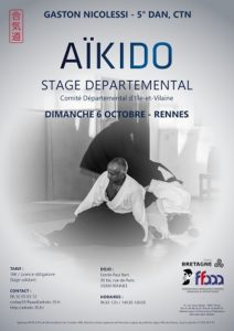 Stage Départemental Codep35 Aïkido 6 oct 2019 @ Cercle Paul Bert | Rennes | Bretagne | France