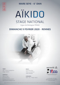 Stage National Aïkido Mare Seye 9 février 2020 @ Cercle Paul Bert | Quimperlé | Bretagne | France