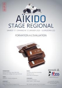 Stage de Formation à l'évaluation Aïkido 11-12 janvier 2020 @ Complexe Sportif de Guerledan | Rennes | Bretagne | France