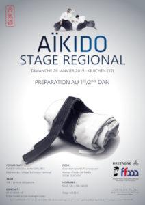 Stage Préparation 1-2 Dan Aïkido 26 janvier 2020 @ Complexe Sportif JP Loussouarn | Guingamp | Bretagne | France