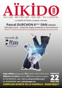 Stage Départemental Codep22 Aïkido 22 mars 2020 @ Plurien | Bretagne | France