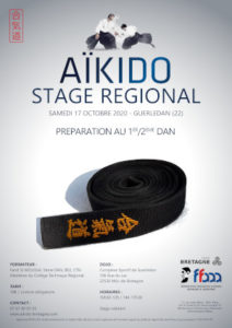 Stage Préparation 1-2 Dan Aïkido 17 octobre 2020 @ Complexe sportif de Guerledan | Guingamp | Bretagne | France