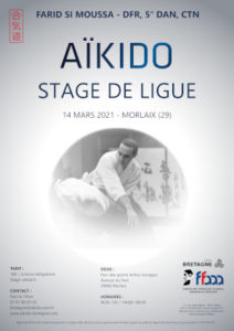 Stage de Ligue Aïkido 14 mars 2021 @ Parc des sports Arthur Aurégan | Quimperlé | Bretagne | France