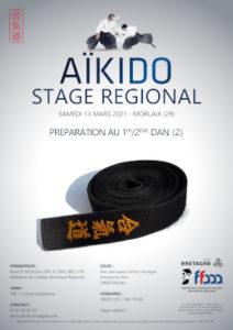 Stage Préparation 1-2 Dan Aïkido 13 mars 2021 @ Parc des sports Arthur Aurégan | Guingamp | Bretagne | France