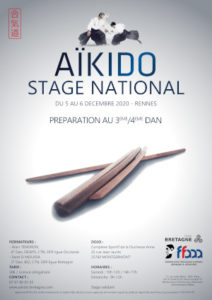 Stage Préparation 3-4 Dan Aïkido 5-6 décembre 2020 @ Complexe sportif de la Duchesse Anne | Guingamp | Bretagne | France