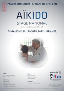 Stage National Aïkido Pascal Durchon 30 janvier 2022 @ Cercle Paul Bert | Quimperlé | Bretagne | France